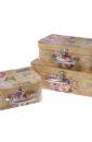 """Набор коробок из картона """"Чемоданчик"""" ( 3 шт разного размера)"""