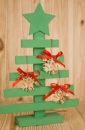 Декоративная деревянная ёлка МИНИ (22*5,5*31,5) Дерево, МДФ 3мм, окрашен.