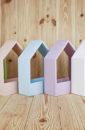Подарочный ящик-домик (20,5*10*30,5) Дерево, окрашен. цвет на выбор