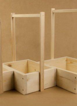 Набор (3шт) ящиков из массива, с деревянными ручками (20*14*33; 25*19*36,5; 30*24*40) . ПОД ЗАКАЗ.