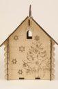 """Подарочная упаковка Домик"""" с ручкой (19*17*25) Фанера 3мм, неокраш., оформл., 1 шт."""