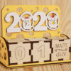 "Календарь ""2020"" с мышками 13,5*5,5*10,5 Фанера 3мм"