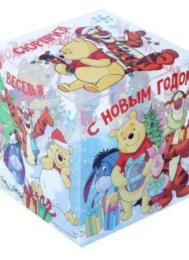 """Коробка подарочная """"Радости!"""", Медвежонок Винни и его друзья,15 х15 х15 см"""