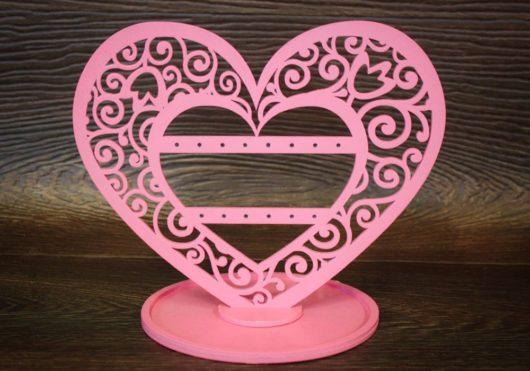 """Подставка """"Сердце"""" для ювелирных украшений для девушки розового цвета  В НАЛИЧИИ"""