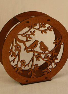 Колба для цветов в подставке круглой, с птицами (5,2*17*16,5) В Наличии