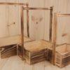 Набор (3шт) ящиков из массива с обжигом, с деревянными ручками (20*14*33; 25*19*36,5; 30*24*40) . ПОД ЗАКАЗ.