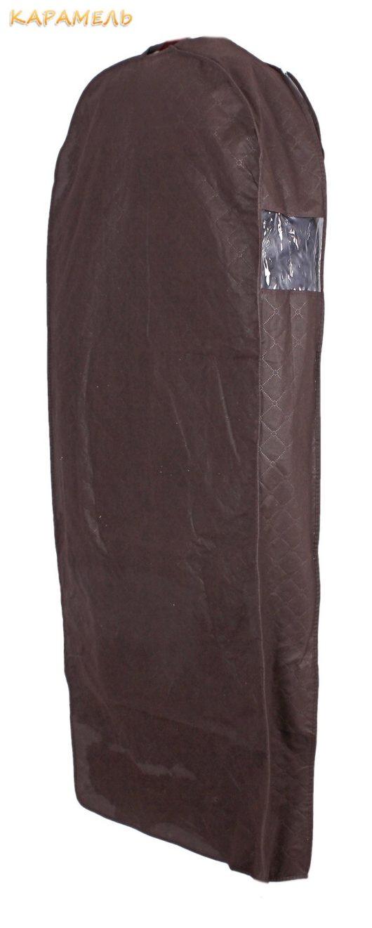Чехол для свадебного платья Размер 155*60*10 см.  Цвет коричневый.  В наличии.