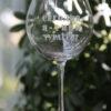 ПОД ЗАКАЗ Бокал 655 мл для красного вина 22 см Диаметр 10,5 см  с гравировкой Сегодгня я - твой турагент