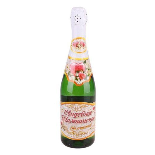 Набор наклеек на свадебное шампанское