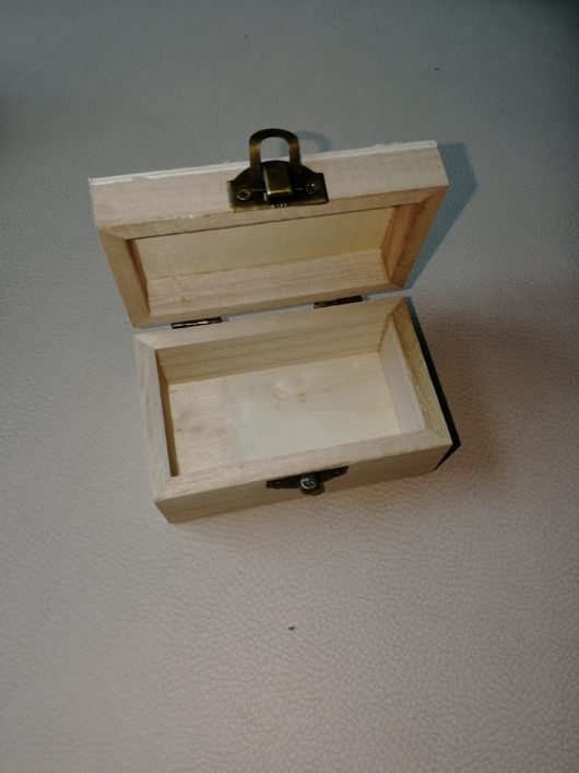 Шкатулка деревянная для обручальных колец: заготовка без декора в наличии