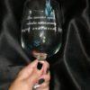 """Бокал для вина с гравировкой """"Бог послал меня, чтобы наполнить её счастьем"""" под заказ"""