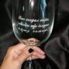 """Бокал для вина с гравировкой """"Бог создал тебя, чтобы ты создал нашу семью"""" под заказ"""
