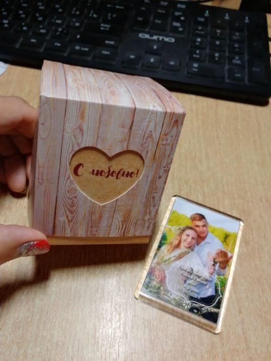 Бонбоньерка «С любовью», 6,2×7×6,2 см в наличии