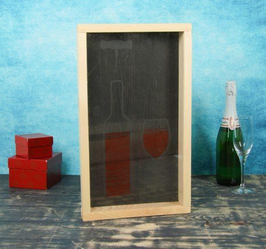 В наличии Накопитель для пробок, 48х28х5см с рисунком на стекле