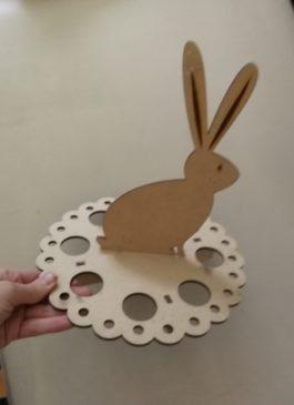 """Заготовка подставки для  8 яиц """"Пасхальный кролик"""" из мдф 3 мм под покраску"""